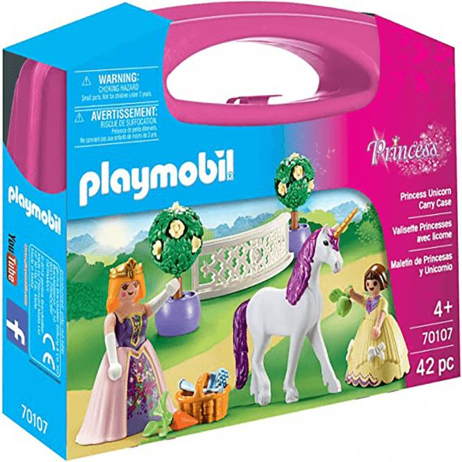 playmobil princess unicorn carry case  70107  toys and